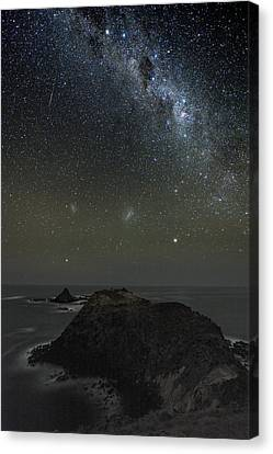 Milky Way Over Phillip Island, Australia Canvas Print by Alex Cherney, Terrastro.com