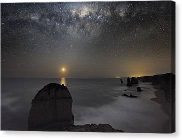 Milky Way Over Shipwreck Coast Canvas Print by Alex Cherney, Terrastro.com