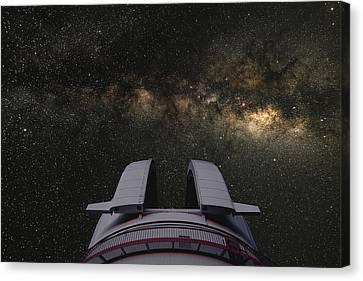 Milky Way Overhead Canvas Print by Larry Landolfi