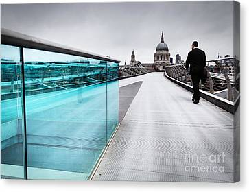 Millenium Commuter Canvas Print by Martin Williams
