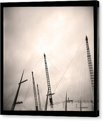 Canvas Print featuring the photograph Millenium Dome Spires by Lenny Carter