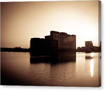 Canvas Print featuring the photograph Millenium Mills Warehouse by Lenny Carter