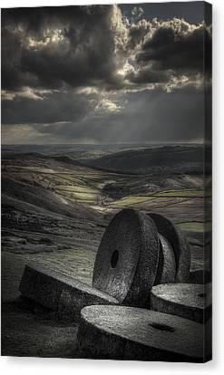Millstones Canvas Print by Andy Astbury