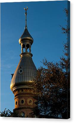 Canvas Print featuring the photograph Minaret And Trees by Ed Gleichman