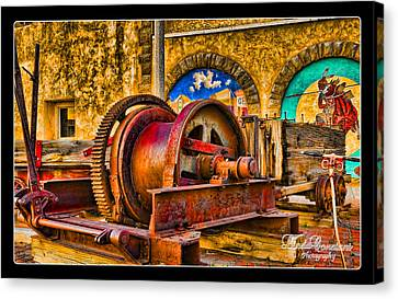 Canvas Print featuring the photograph Mine Machinery by Linda Constant