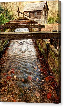 Canvas Print featuring the photograph Mingus Mill by Doug McPherson