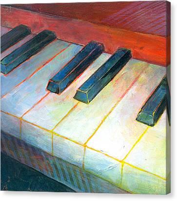 Mini Keyboard Canvas Print by Susanne Clark