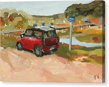 Mini On The Cape Canvas Print by William Noonan