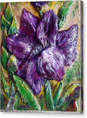 Mini Sculpture - Gladiolus Canvas Print