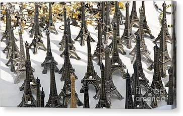 Miniature Eiffel Tower Souvenir. Paris. France Canvas Print by Bernard Jaubert