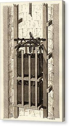 Simonin Canvas Print - Mining Safety Cage, 19th Century by Sheila Terry