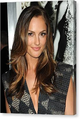Minka Kelly At Arrivals For Country Canvas Print by Everett