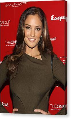 Minka Kelly At Arrivals For Esquire Canvas Print by Everett