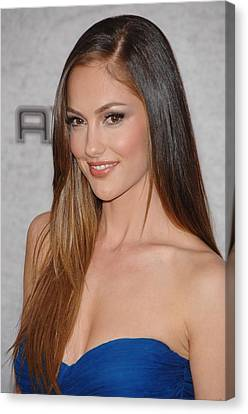 Minka Kelly At Arrivals For Spike Tvs Canvas Print by Everett