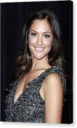 Minka Kelly In Attendance For The 9th Canvas Print by Everett