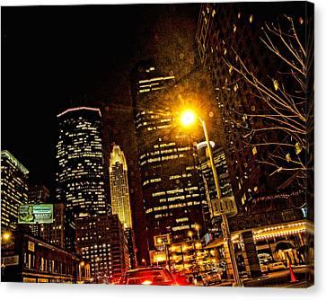 Minneapolis Night Lights Canvas Print by Susan Stone