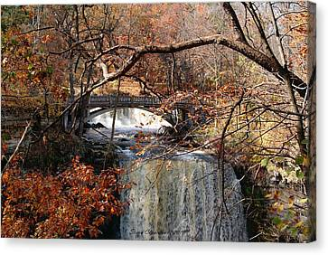 Minneopa In The Fall Canvas Print by Steven Clipperton