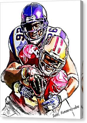 Minnesota Vikings Antoine Winfield - San Francisco 49ers Ted Ginn Jr Canvas Print by Jack K