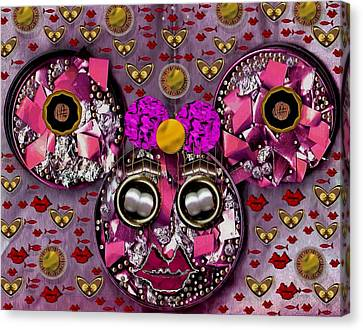 Minnie Mouse In Love Canvas Print