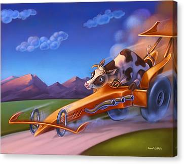 Minny Moo Gone Cruising Canvas Print