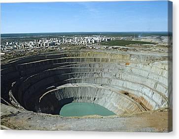 Mir Mine, Siberia, Russia Canvas Print