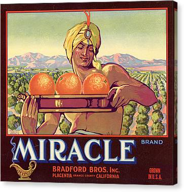 Miracle Brand Orange Label Canvas Print by Hulton Archive