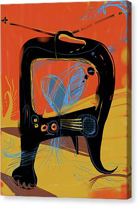 Miro Andmax Watch Lucy Canvas Print by Russell Pierce