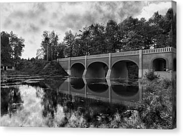 Mirror Bridge Canvas Print by Peter Chilelli