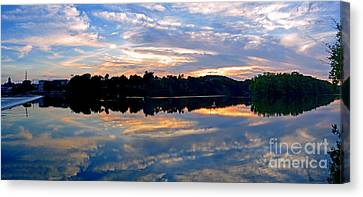 Mirror Mirror On The Water Canvas Print by Sue Stefanowicz