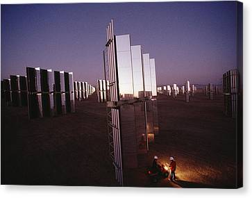 Mirror-winged Solar Panels Convert Canvas Print by James A. Sugar