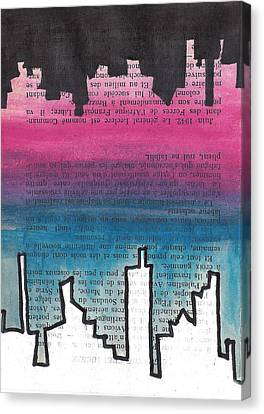 Mirrored Skyline Canvas Print