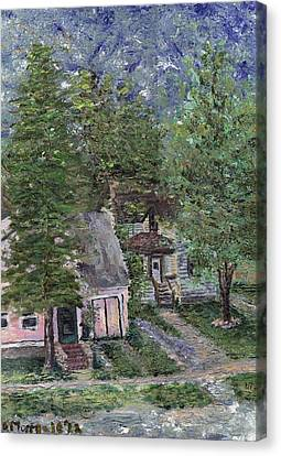 Canvas Print featuring the painting Misfit Summerhome by Denny Morreale