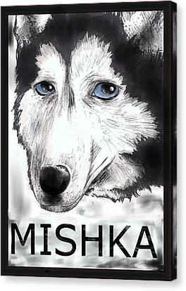 Mishka Fan Poster Canvas Print by Warren Lindsey