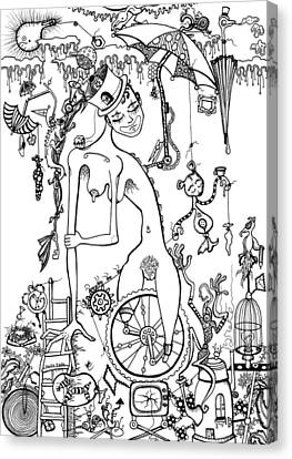 Miss Millies Greatest Show On Earth Illustration Canvas Print by Kelly Jade King