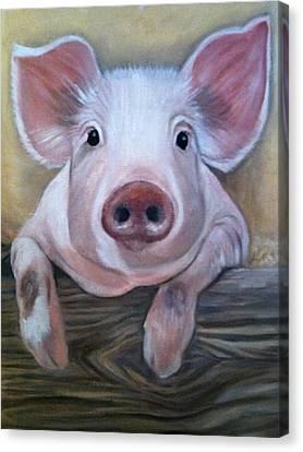 Miss Piggy Canvas Print by Stephanie L Carr