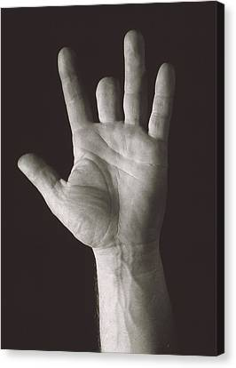 Missing Middle Finger Canvas Print by Alan Sirulnikoff