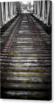 Canvas Print featuring the photograph Missing Tracks by Matti Ollikainen