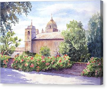 Mission At Carmel Canvas Print