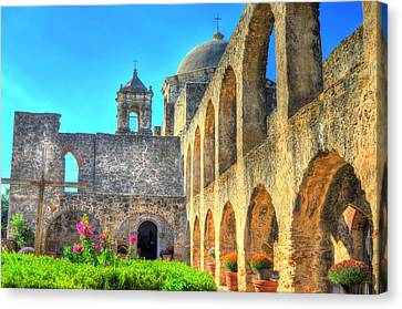 Mission Courtyard Canvas Print