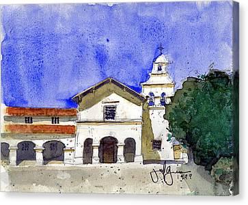 Mission San Juan Bautista Canvas Print by Jerry Grissom