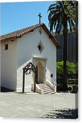 Mission San Rafael Arcangel Chapel Canvas Print by Methune Hively