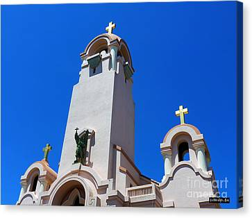 Mission San Rafael Arcangel Canvas Print by Methune Hively