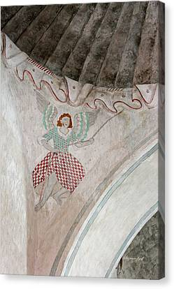 Mission San Xavier Del Bac - Painting Detail Canvas Print by Suzanne Gaff