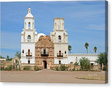 Mission San Xavier Del Bac Canvas Print by Suzanne Gaff