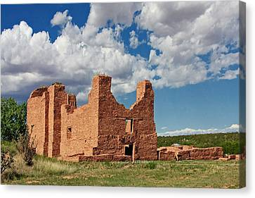 Pueblo Canvas Print - Mission To Quarai New Mexico by Christine Till