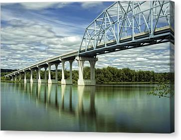 Canvas Print featuring the photograph Mississippi River At Wabasha Minnesota by Tom Gort