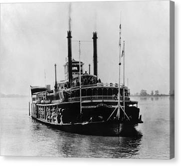 Mississippi Steamboat, 1926 Canvas Print by Granger