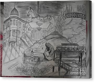 Fort Missoula Canvas Print - Missoula Memories by Kelsey Anderson