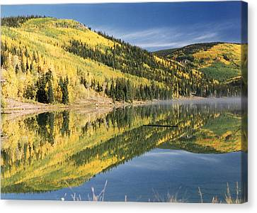 Mist On The Water Canvas Print by Stacey Grant