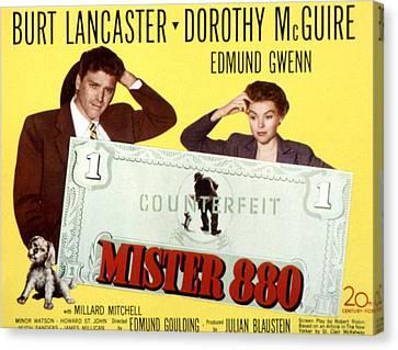Fid Canvas Print - Mister 880, Burt Lancaster, Dorothy by Everett